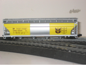 N Scale 55' Cylindrical Hopper Rocor Resins