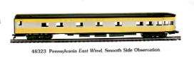 HO SS Pennsylvania Passenger Cars - East Wind