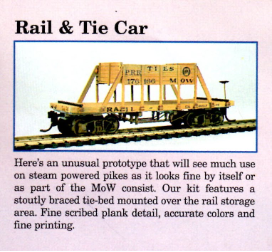 HO Scale Rail & Tie Car - Ready To Run