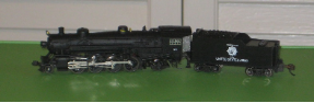 N Scale 2-8-2 Mikado REFURBISHED US Army Steam Locomotive with Tender