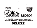 Carnival Motor Deluxe - 12volt DC powered