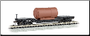N Scale 52' Center-Depressed Flat Car with Boiler