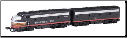 N Scale SP F7 A & B Units - Spectrum Series