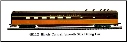 HO SS Illinois Central Passenger Cars - Dk. Brown/Orange