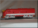 HO F3-A Katy Texas DCC & Sound Diesel Locomotive