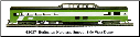 HO SS Burlington Northern Passenger Cars