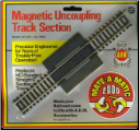 "HO Magnetic Uncoupling 9"" Track Section - Brass"