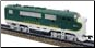 HO F3-A Southern DCC & Sound Diesel Locomotive