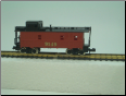 N Scale 3 Window Undecorated Red Caboose