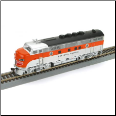 HO F3-A Western Pacific DCC & Sound Diesel Locomotive