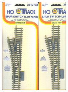 HO LH Spur Switch Set of 2 - Brass