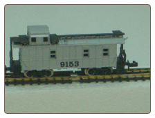N Scale 3 Window Undecorated Silver Caboose