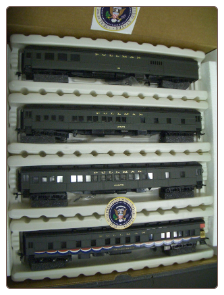 HO IHC Presidental Series 4-Car Train Set - Ronald Reagan