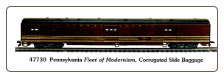 HO CS Pennsylvania, Fleet of Modernism Baggage Car 47730