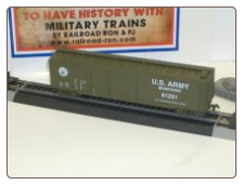 HO Scale U.S. Army Box Car #61251
