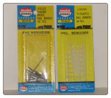 N Scale Nickel & Plastic Rail Joiner Set