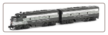 N Scale NYC F7 A & B Units - Spectrum Series