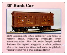HO Scale 30' Bunk Car - Ready to Run