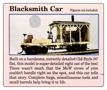 HO Scale Blacksmith Car - Kit