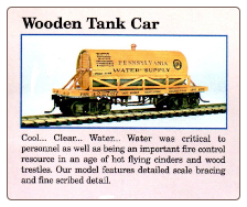 HO Scale Wooden Tank Car - Ready To Run