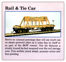 HO Scale Rail & Tie Orange & Alexandria Car Kit