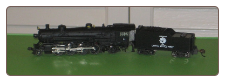 N Scale 2-8-2 Mikado US Army Steam Locomotive with Tender