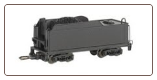 HO Scale Painted Unlettered Coal Tender Long - DCC Ready