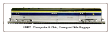 HO CS Chesapeake & Ohio - Silver/Blue/Yellow