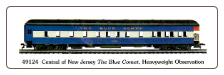 HO HW Central of New Jersey - The Blue Comet