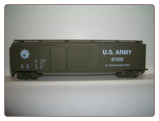 HO Scale U.S. Army Box Car #61243