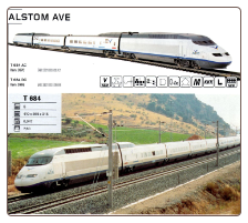 HO Alstom Ave Electric Train Set