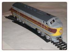 HO F3-A Erie Lackawanna DC Diesel Locomotive