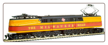 HO GG-1 Milwaukee Road Sound & DCC On-Board Locomotive