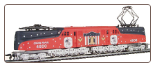 HO scale GG-1 Conrail Spirit of 76 Locomotive #4800 DC
