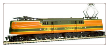 HO scale GG-1 Great Northern Locomotive