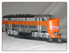 HO F3-A Western Pacific DC Diesel Locomotive